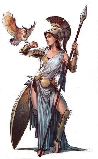 athena goddess of war pic greek mythology