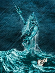 Poseidon, the God of Sea and Earthquakes