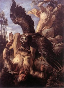 Prometheus, The Benefactor and Protector of The Mankind