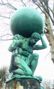 statue of atlas the titan
