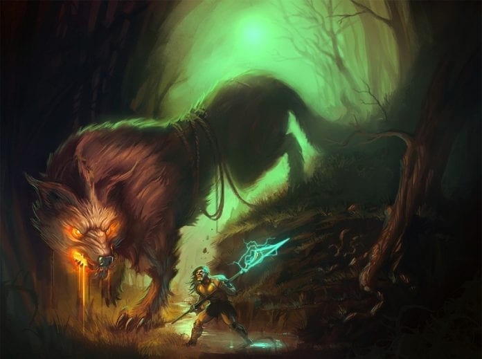 fenrir the wolf versus vidar norse mythology