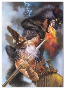 the wolf fenrir in norse mythology