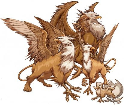 Griffins/Gryphons, Winged Mythical Creatures of Ancient Times