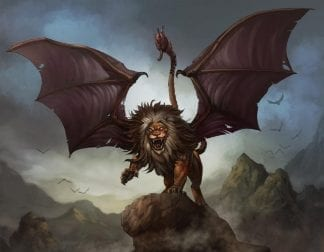 lion with scorpion tail manticore pictures