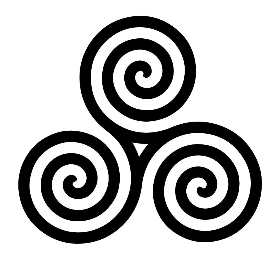 triskeliontriskele symbol the celtic spiral knot and