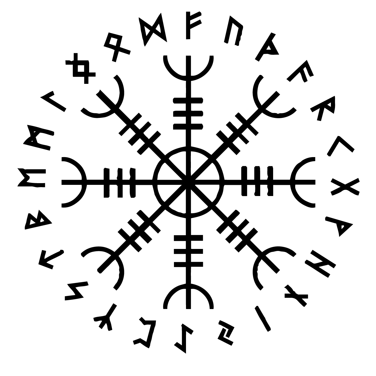 Aegishjalmraegishjalmur the helm of awe symbol and its meaning when fafnir spoke in the volsungsaga none dared come near me this was perhaps the truth of the aegishjalmurs power to which he alluded biocorpaavc