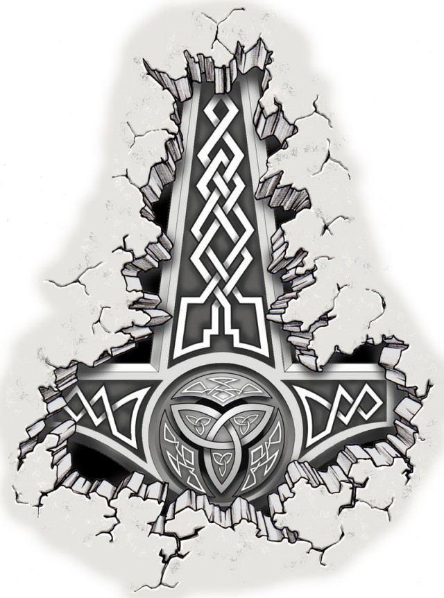 Pagan Symbols and Their Meanings Thor's Hammer Mjolnir