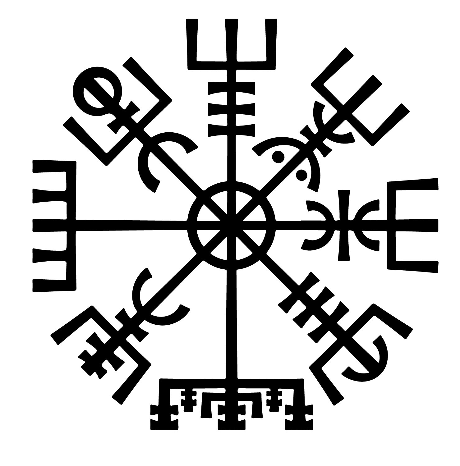 Vegvisir the symbol of guidance and protection its meaning in the galdrabok it is written that this symbol would help its wearer to not get lost and find their way back according to the galdrabok buycottarizona