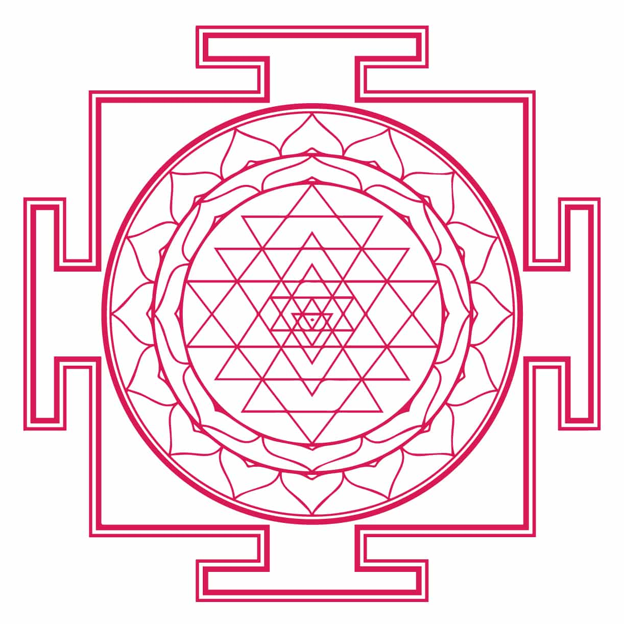 Sri Yantra/Sri Chakra Symbol (Shree Yantra) and Its Meaning