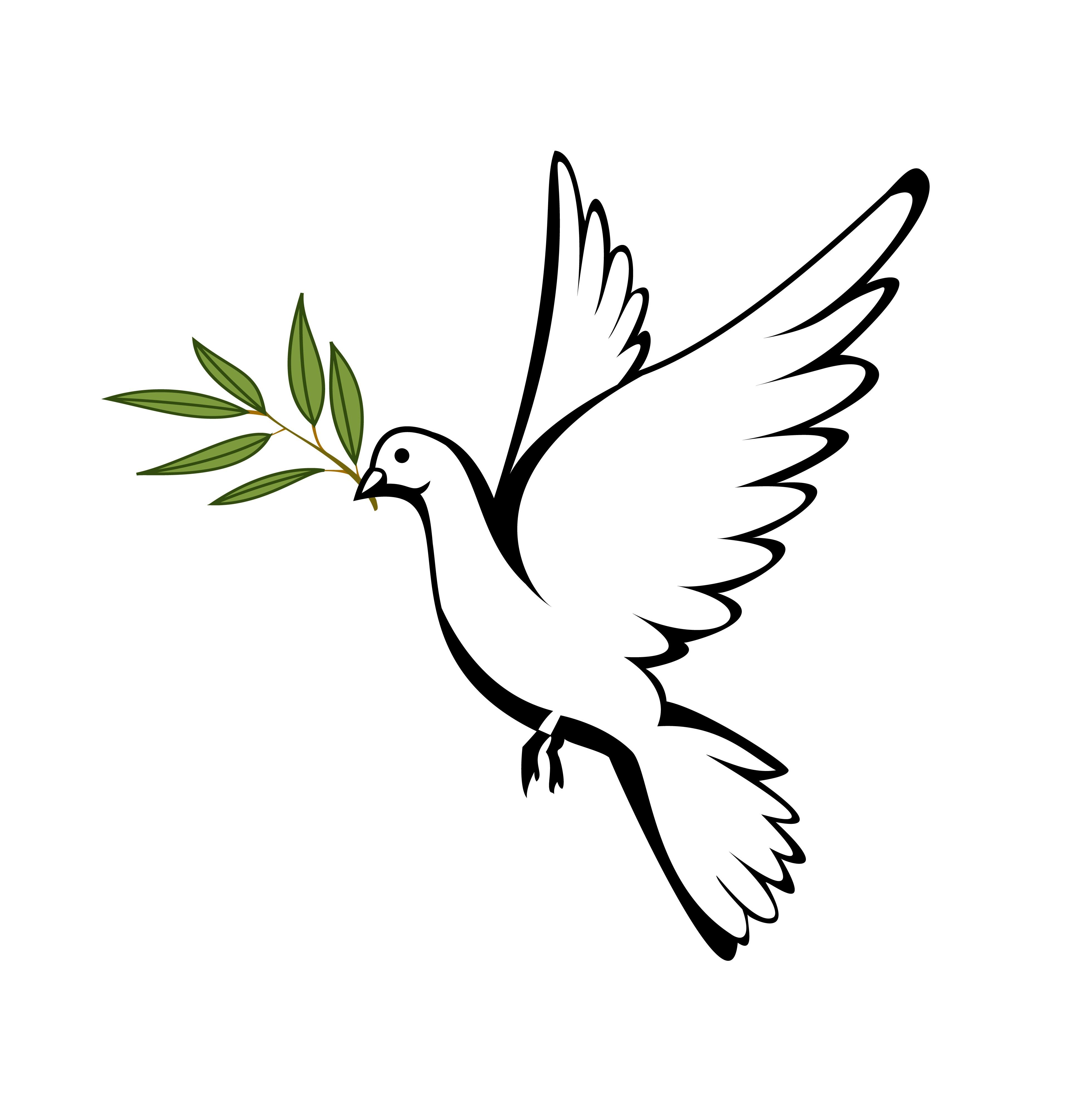 Christian Peace Dove Decal Dove Symbol Sticker Peace Dove ...  |Christian Dove Symbol